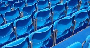 Blue Grandstand seating Dubai