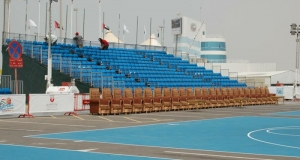 Double space grandstand seating