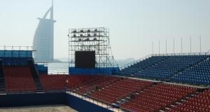 Grandstand beach event Dubai